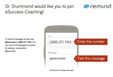 eSuccess Text Alerts
