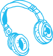 Template_KeyClub_Cyan earphone doodle.png