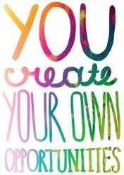 you create