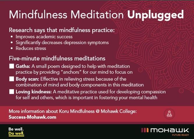 Mindfulness Unplugged Card - Back